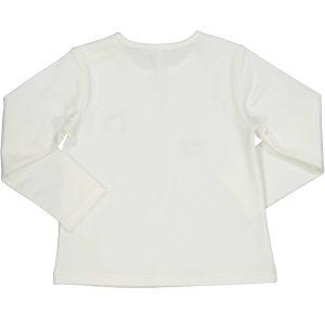 Βρεφικό μπλουζάκι λευκό με καρδούλες