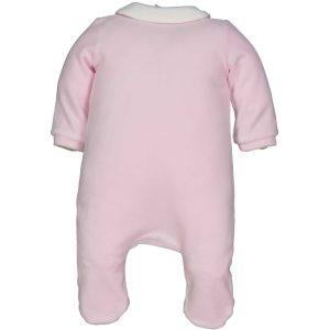 Ροζ-Λευκό ρουχάκι για κοριτσάκι 4-6 μηνών